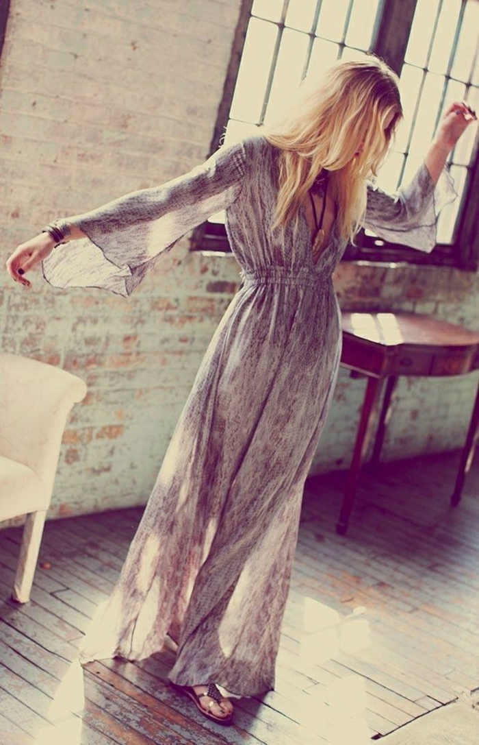 lange-Sommerkleider-lüftiges-Modell-Ärmel