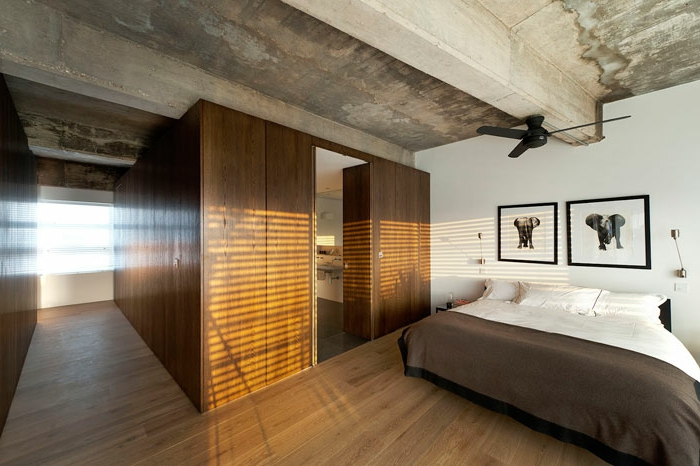loft-einrichten-attraktives-schlafzimmer