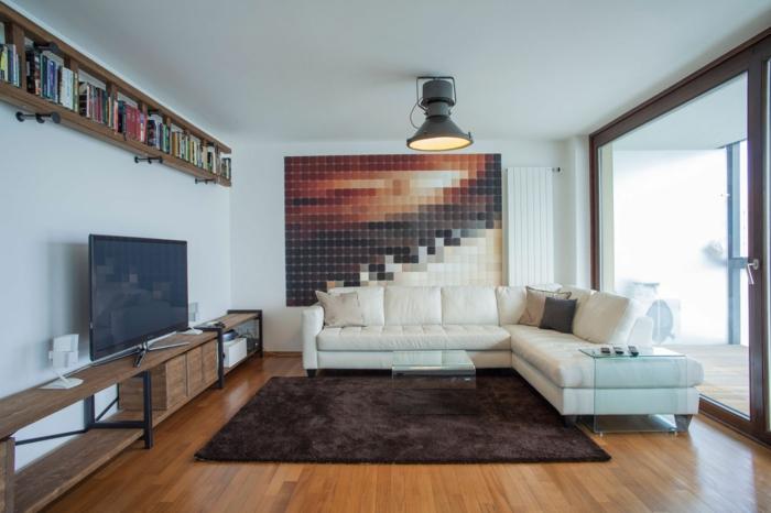 loft-einrichten-brauner-teppich