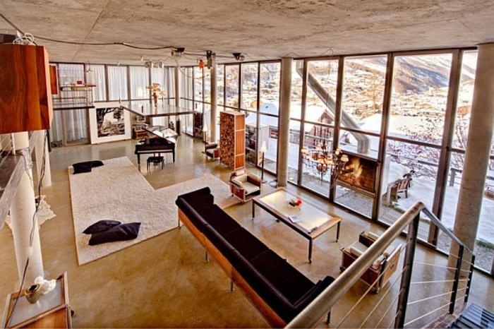 super attraktive gestaltung - glaswände - loft einrichten