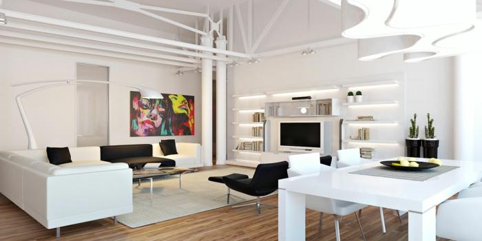 Futuristisches Interieur Loft Wohnung: Rendu D De Loft Appartement