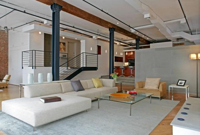 Loft einrichten 92 verbl ffende ideen for Wohnung inneneinrichtung design