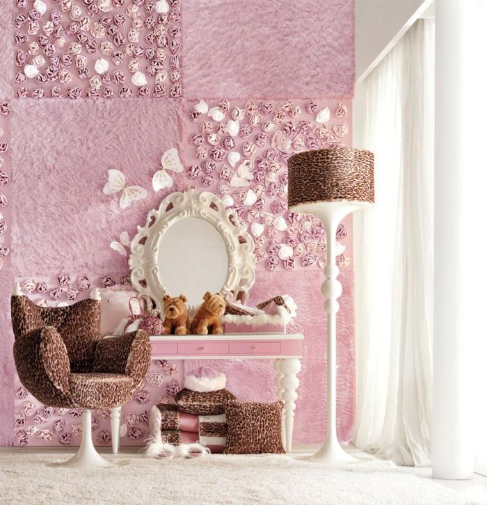 Moderne Luxus Jugendzimmer Mädchen ~ luxusjugendzimmerrosigewände
