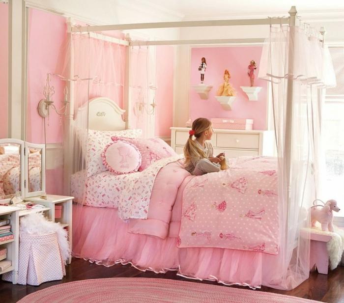 luxus-jugendzimmer-rosiges-bett
