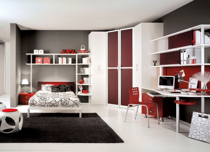 Moderne luxus jugendzimmer mädchen  44 tolle Ideen für Luxus Jugendzimmer! - Archzine.net