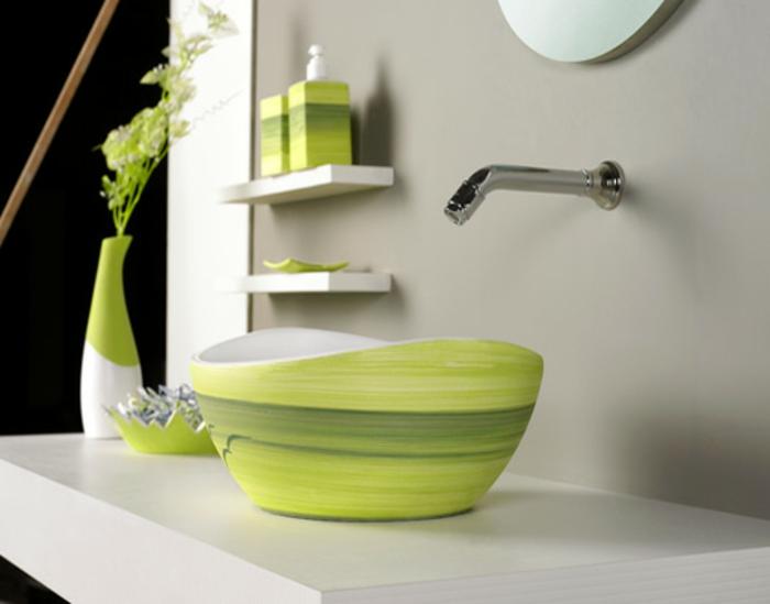 luxus-waschbecken-grünes-modell
