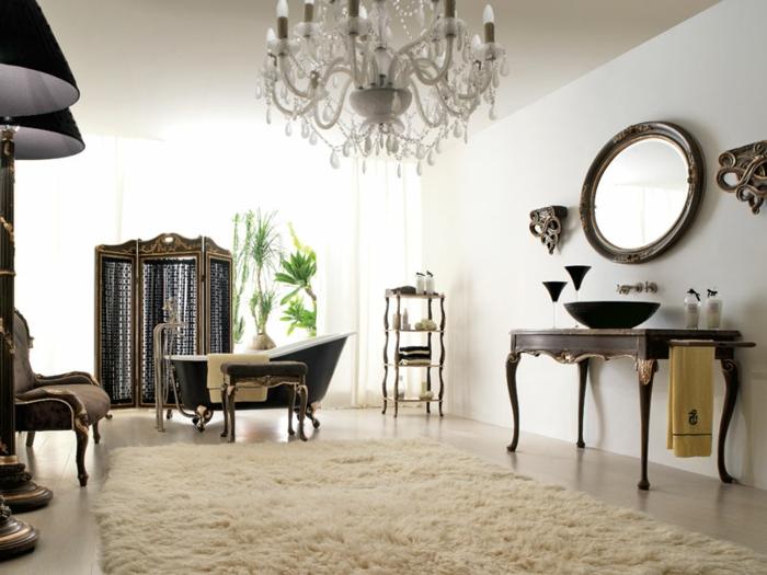 luxus-waschbecken-runder-spiegel-an-der-wand