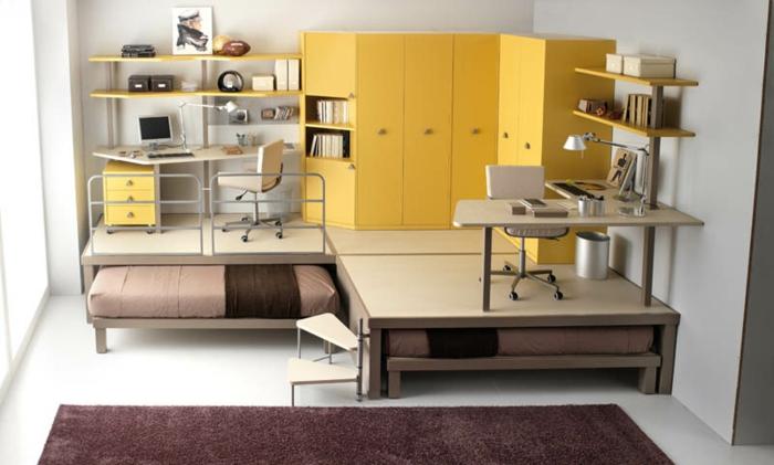 platzsparende möbel: 70 super ideen! - archzine.net - Losungen Fur Kleine Kinderzimmer