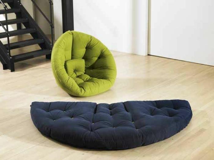platzsparende-möbel-schöner-grüner-sessel