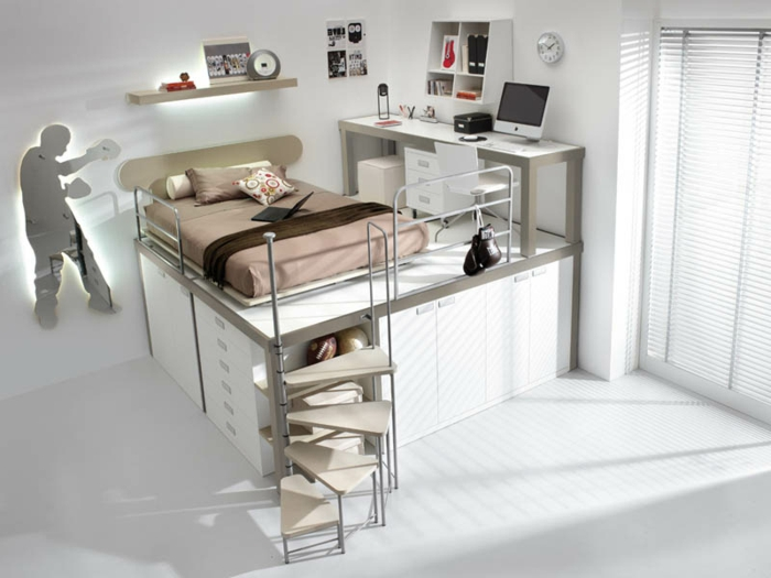 platzsparende m bel 70 super ideen. Black Bedroom Furniture Sets. Home Design Ideas