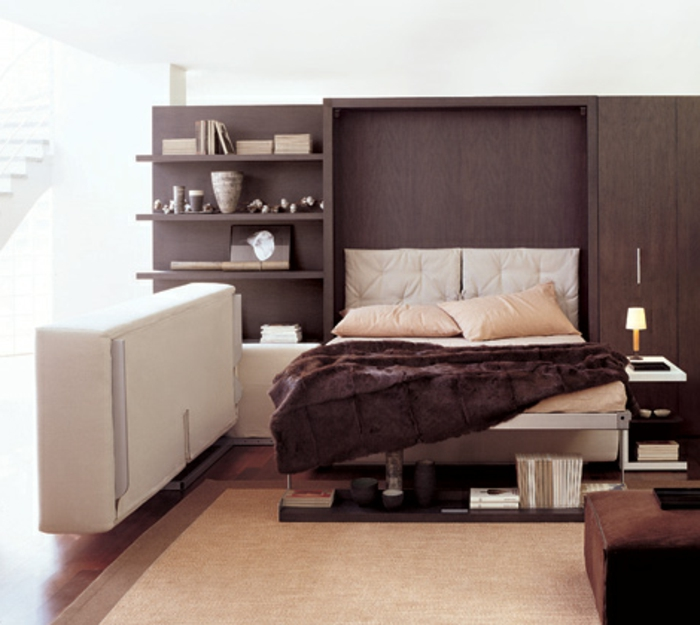 Platzsparende m bel 70 super ideen - Braunes schlafzimmer ...