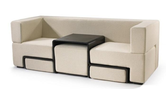 platzsparend ideen sofa mit holzgestell, platzsparende möbel: 70 super ideen! - archzine, Innenarchitektur