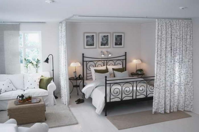 raumtrenner-vorhang-elegantes-schlafzimmer-gestalten