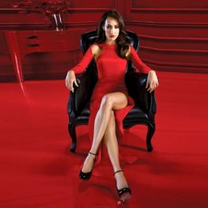 Rotes Kleid für einen schicken Look!