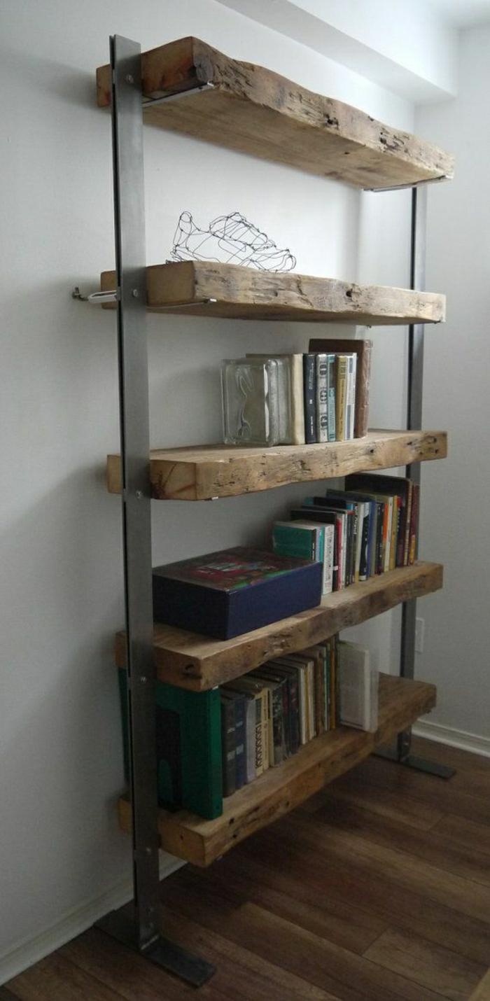 rustikale-Möbel-Regale-Holz-Metall