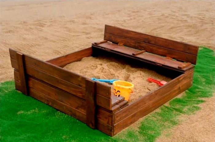 sandkasten aus holz 30 super designs. Black Bedroom Furniture Sets. Home Design Ideas