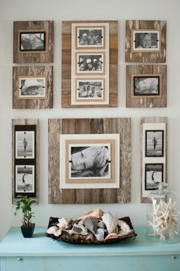 bilderrahmen holz viele bilder. Black Bedroom Furniture Sets. Home Design Ideas