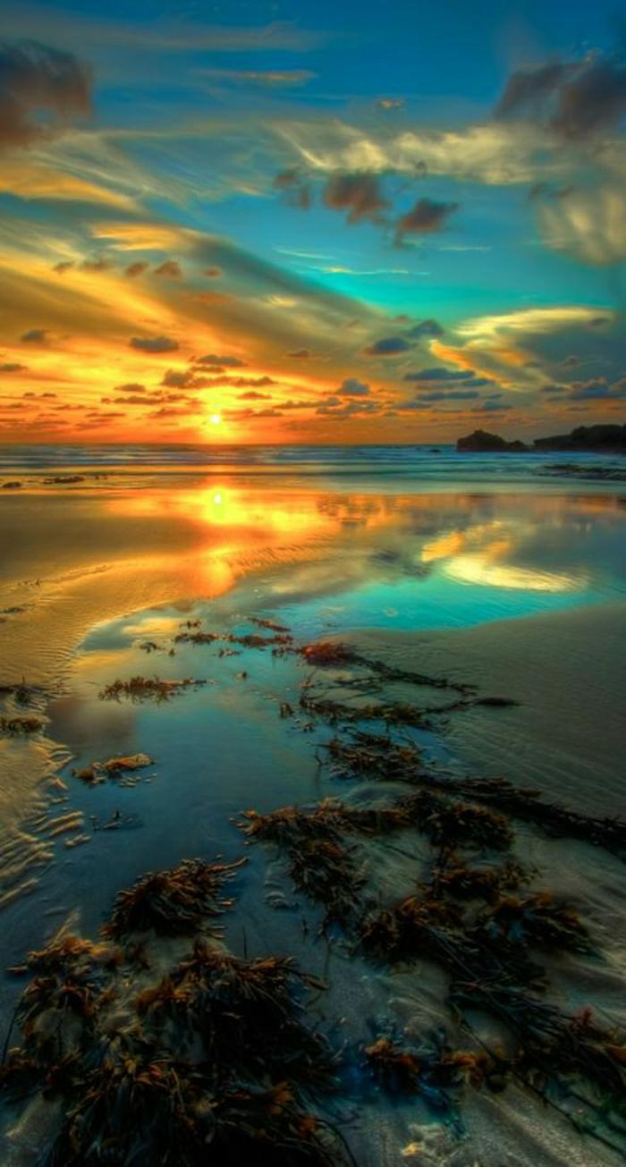 schöner-Sonnenuntergang-Wellenbrecher-Bude-Nord-Cornwall-England