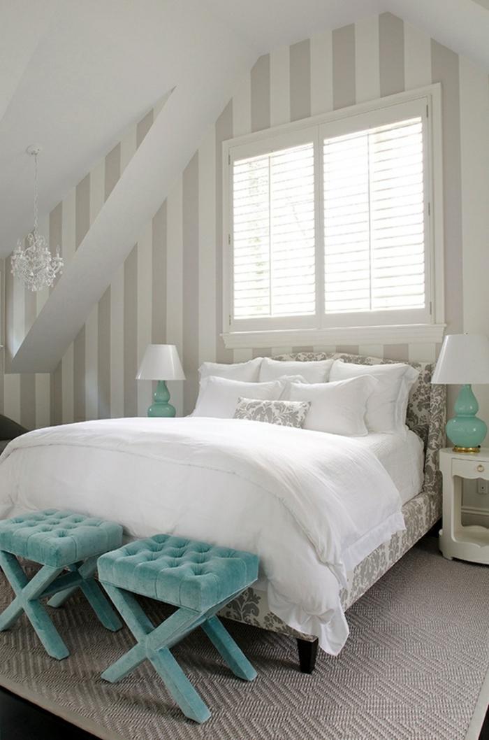 Schlafzimmer Farbe Blau : schlafzimmer-bank-blaue-farbe