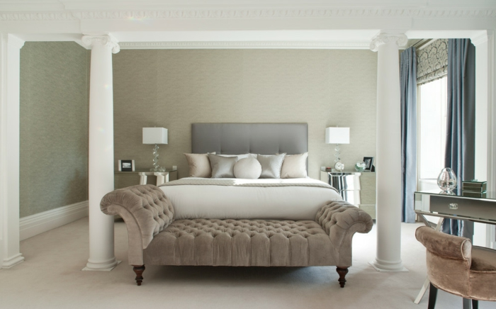Schlafzimmer : Schlafzimmer Taupe Blau Schlafzimmer Taupe In ... Farbe Taupe Wand