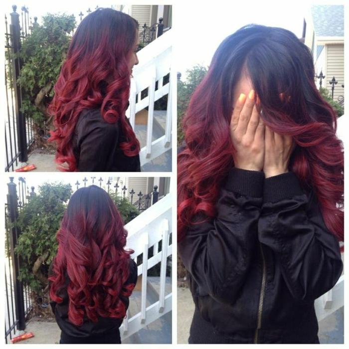 Schwarz Rote Haare Sehen Cool Aus Archzinenet