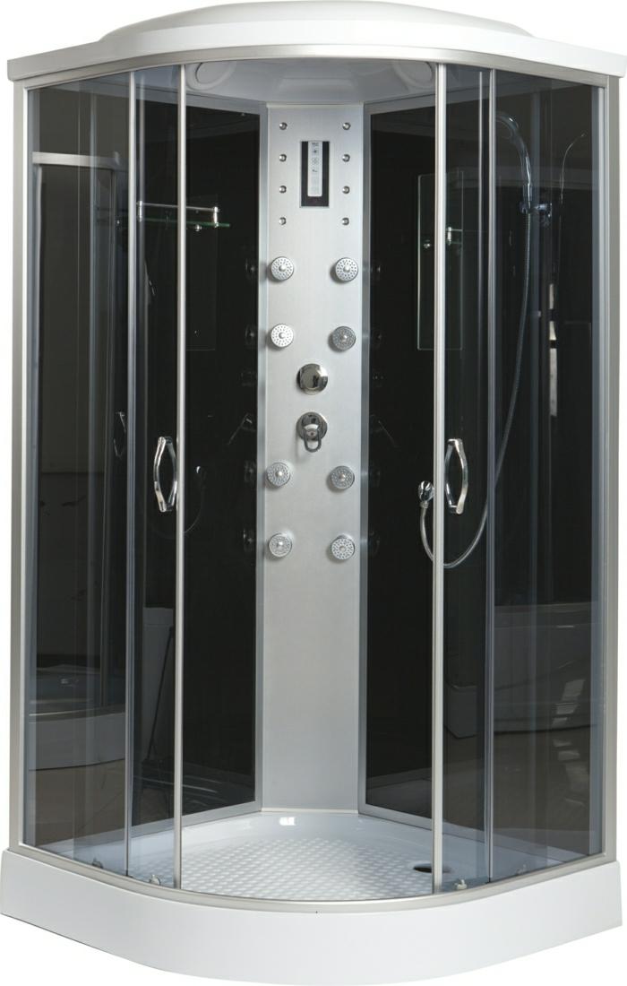 schwarze-Kabine-Duschen-Dampf
