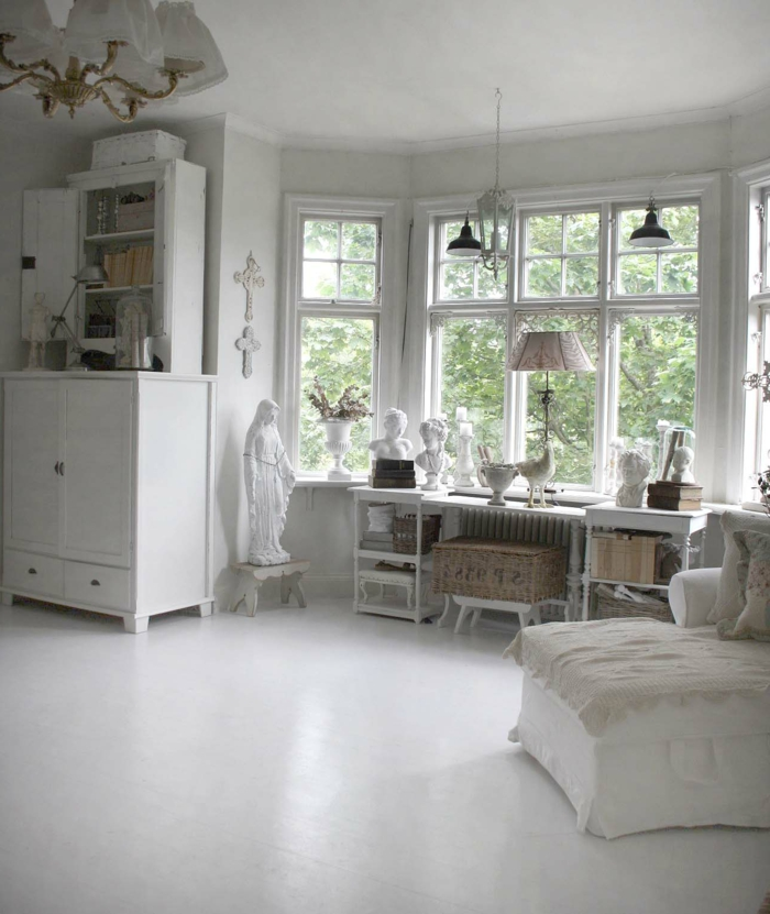 stuhl paris with spiegel shabby chic wei bilder