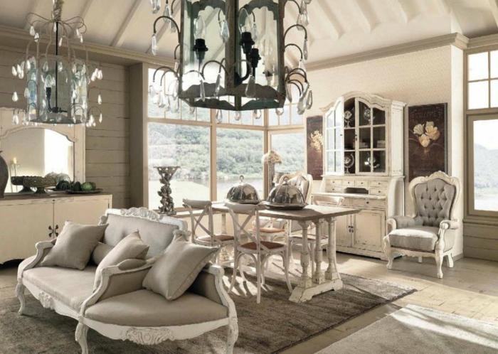 einrichtungstipps wohnzimmer shabby chic fotos:aristokratisches modell – shabby chic bilder
