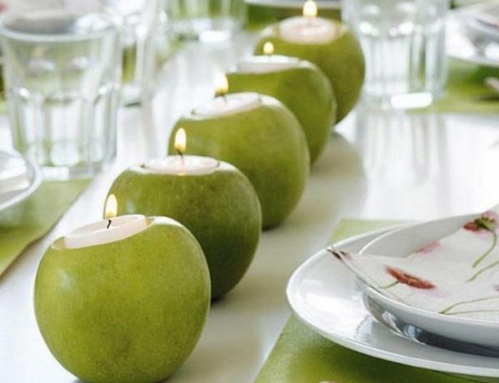 tischdeko-für-sommerpartry-grüne-äpfel