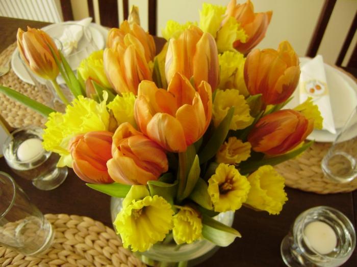 tischdeko-für-sommerpartry-orange-farben