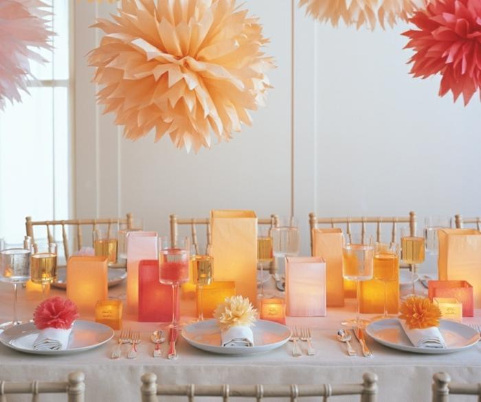 tischdeko-für-sommerpartry-orange-wunderschöne-dekoartikel