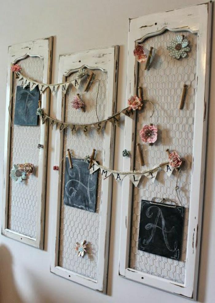 vintage-Wanddekoration-Idee-Spiegel-Rahmen-Blumen-Namen