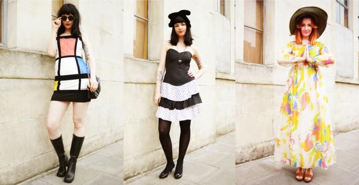 vintage-kleider-drei-schöne-frauen