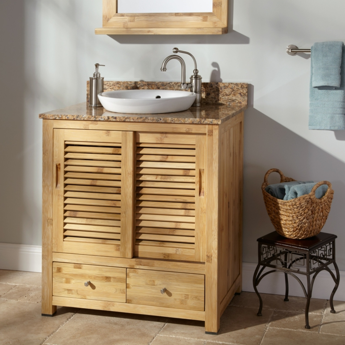 waschbecken-für-waschküche-hölzerner-unterschrank