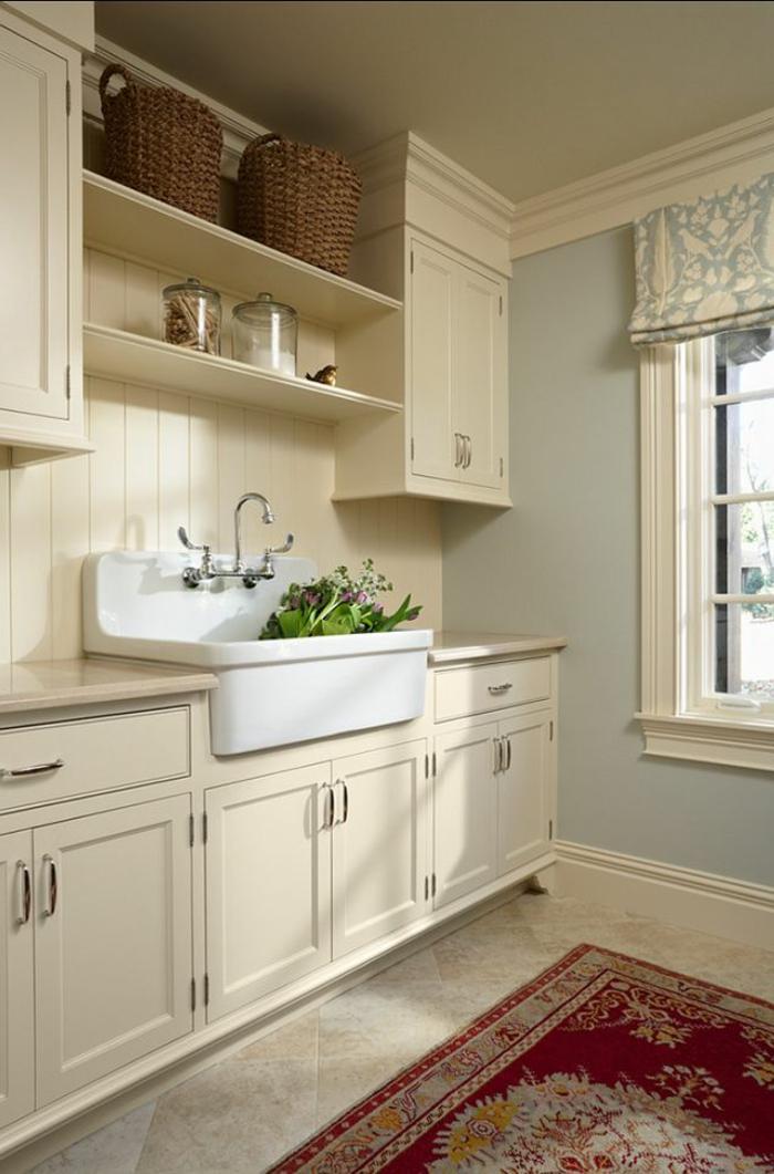 waschbecken-für-waschküche-interessanter-teppich