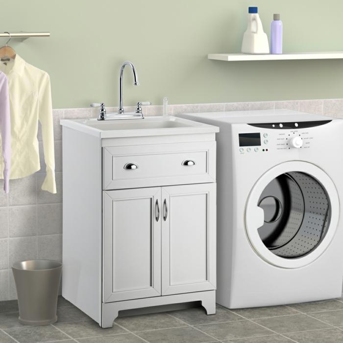 waschbecken-für-waschküche-interieur-in-weißer-farbe