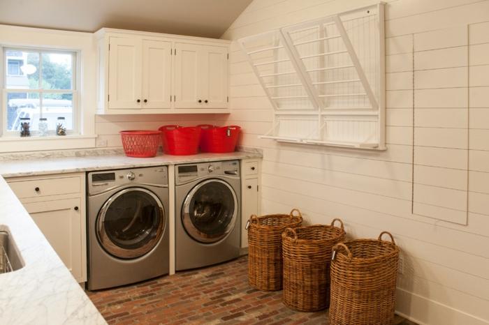 waschbecken-für-waschküche-weiße-wände