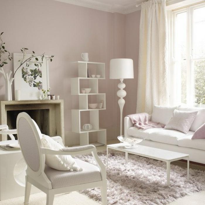 weiße-möbel-interessantes-moderne-lampe