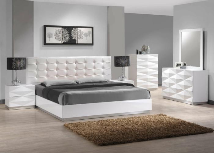 Schlafzimmer : Schlafzimmer Braun Beige Weiße Möbel Schlafzimmer ... Beige Wandfarbe Weie Mbel