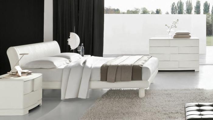 weiße-möbel-wunderschönes-bett-modell