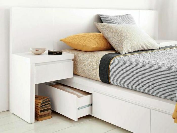 weißes-Schlafzimmer-Bett-Schubladen-simpel
