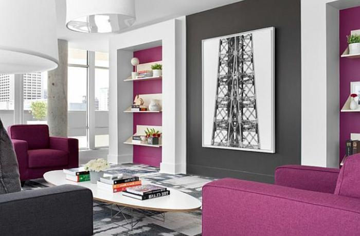 Wohnzimmer in Grau: 55 super Designs! - Archzine.net