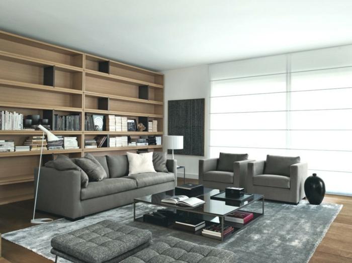 wohnzimmer-in-grau-großes-regalsystem