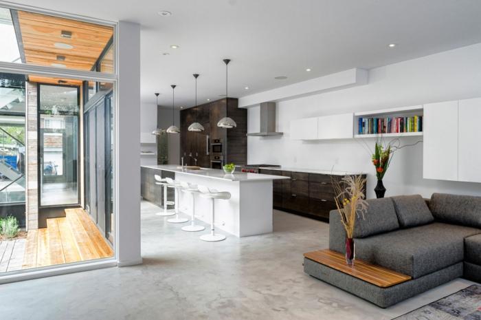 Wohnzimmer in grau 55 super designs for Wohnkuche einrichten