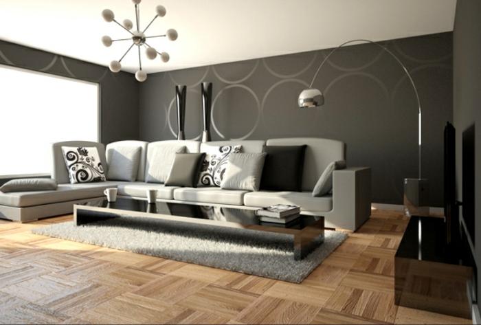 Nice Wohnzimmer In Grau Modernes Aussehen Nice Ideas