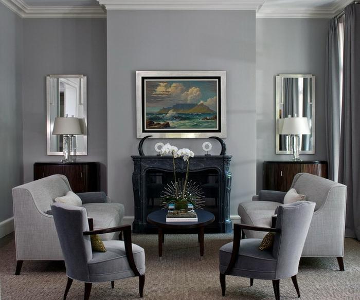 wohnzimmer in grau dekoration inspiration innenraum und