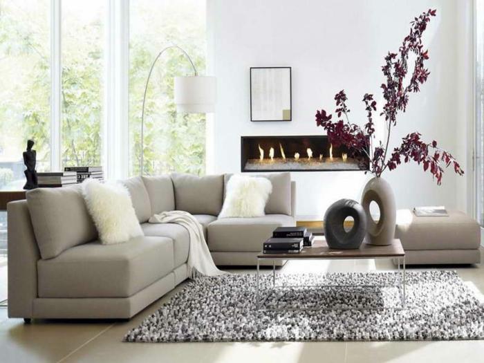 Bilder Wohnzimmer Farbe Beige Flieder