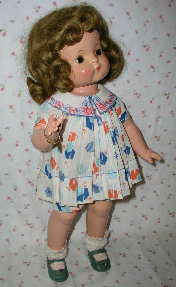 1930-vintage-Patsy-Ann-Puppe-braune-Haare