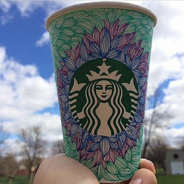 Art-Becher-Starbucks-Kaffee-schön