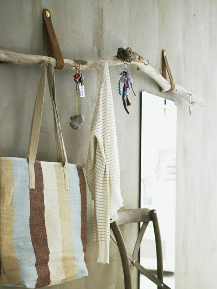 Ast-Metall-Kleiderhaken-kreativ-rustikal-Tasche-Bluse